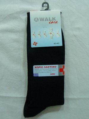 Ανδρική Ελαστική Κάλτσα Χωρίς Λάστιχο Walk Πλέξη RiB