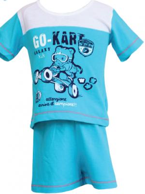 Μπεμπέ Πυτζάμα Go Kart Galaxy Τιρκουάζ