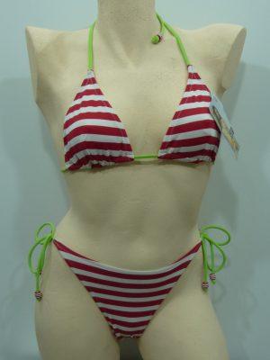 e73d1c413a8 Γυναικείο Μαγιό Bikini Club Neuf Κόκκινο Ριγέ