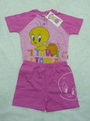 Παιδική Πυτζάμα Tweety Pretty Baby Ροζ
