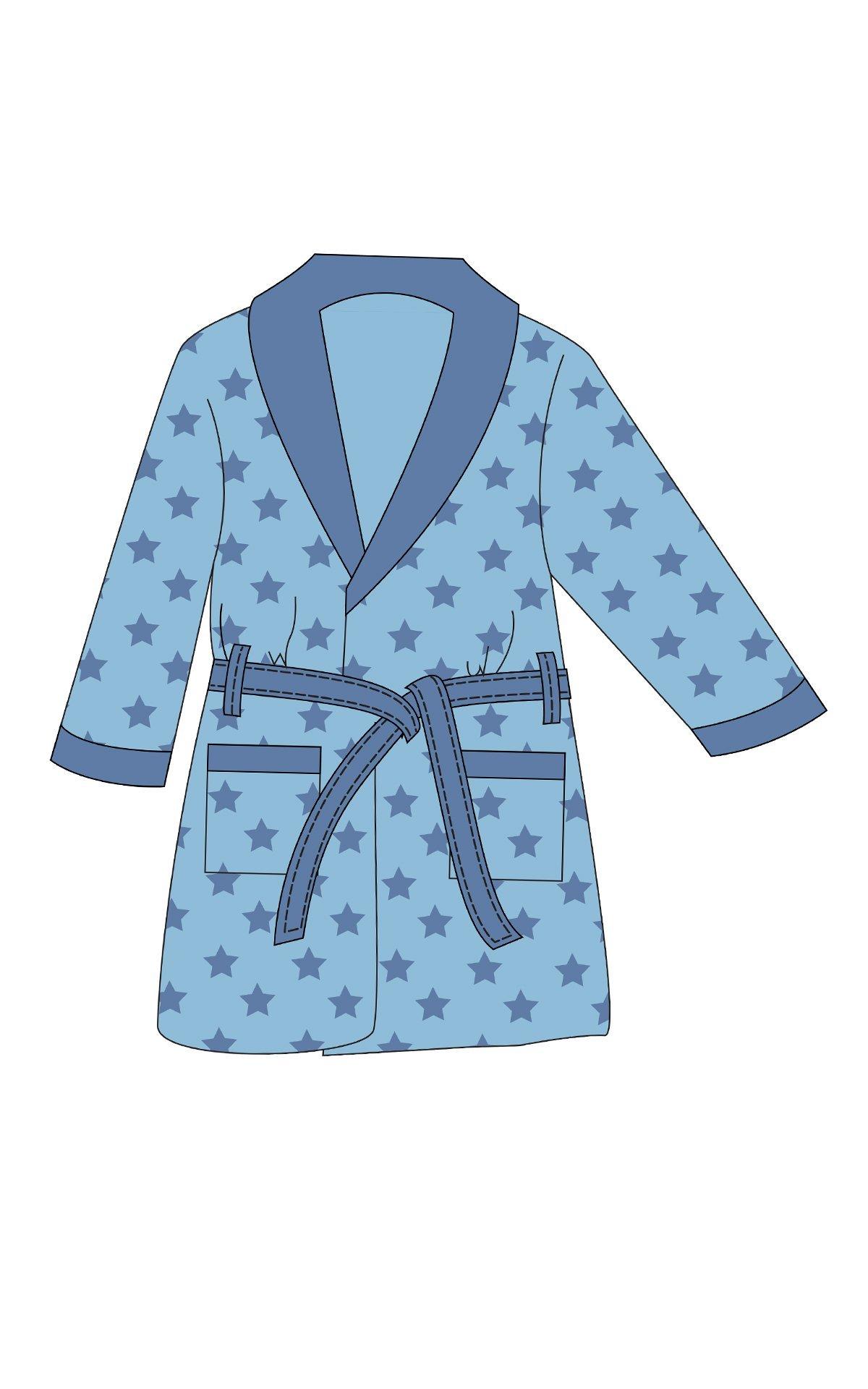 ba9c66b0b1e Παιδική Ρόμπα Fleece Minerva Σιέλ. Ιδανική για τις κρύες χειμωνιάτικες