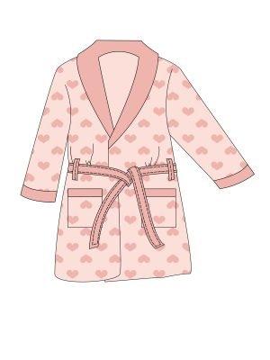 Παιδική Ρόμπα Fleece Minerva Ροζ 6-8-10