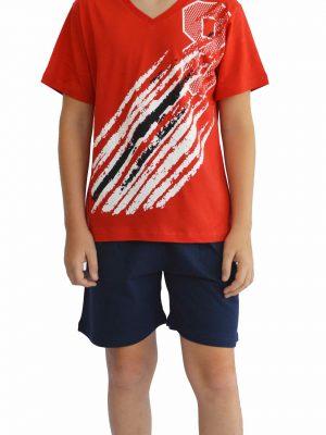 Παιδική Εφηβική Πυτζάμα Galaxy Κόκκινο