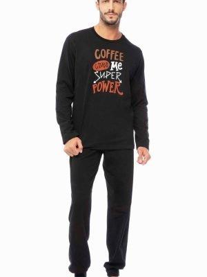 Ανδρική Πυτζάμα Coffee Minerva Μαύρο