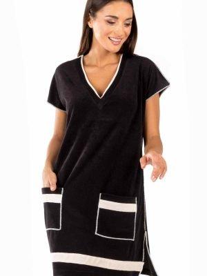 Γυναικείο Κοντομάνικο Φόρεμα Frotte Beachwear Minerva