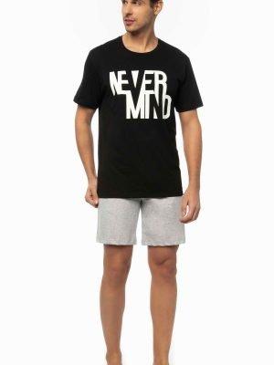 Ανδρικό T-Shirt με τύπωμα Minerva Μαύρο