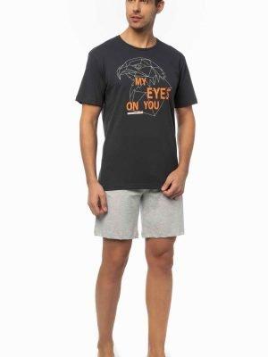 Ανδρικό T-Shirt με τύπωμα Minerva Ανθρακί