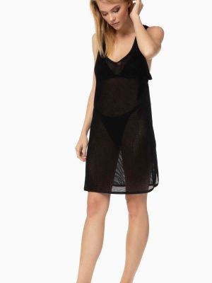 Γυναικείο Φόρεμα Beachwear Black-Power-Αμάνικο Μinerva Μαύρο