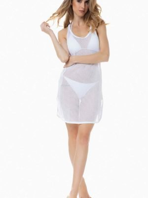 Γυναικείο Φόρεμα Beachwear Black-Power Αμάνικο Μinerva