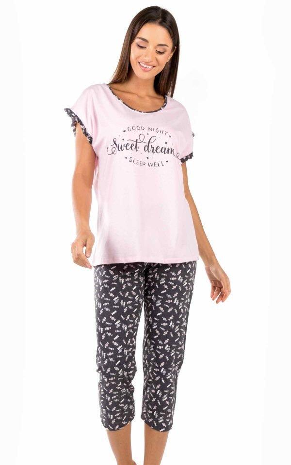 Γυναικεία Πυτζάμα Capri Candy Minerva 51821