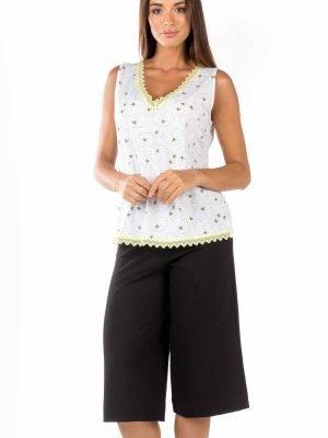 Γυναικεία Πυτζάμα Capri Bees-&-Stripes Minerva 51813