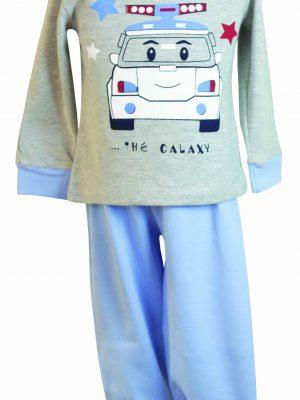 Παιδική-Βρεφική Πυτζάμα Γκρι-Μελανζέ Galaxy 03-20