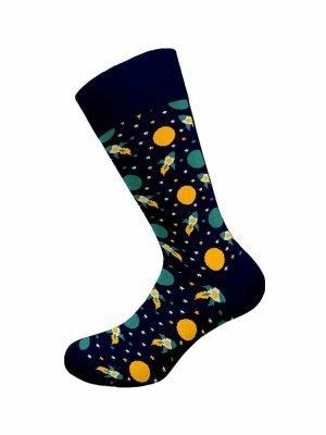 Ανδρική Βαμβακερή Κάλτσα Με-Σχέδιο Walk Μπλε