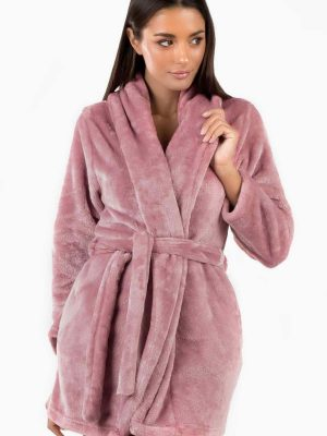 Γυναικεία Ρόμπα Fleece Dusty-Pink Minerva