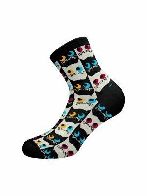 Γυναικεία Βαμβακερή Κάλτσα Κοφτή Με-Σχέδιο Walk-133-22