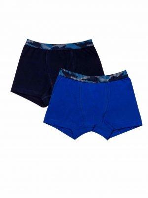 Παιδικό Boxer Army-Blue Minerva 2-Τεμάχια 8-10-12-14-16