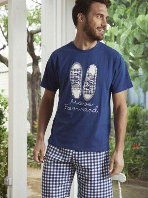 Ανδρική Πυτζάμα Παπούτσια Μπλε Admas