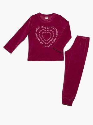 Παιδική Πυτζάμα With-Love-Βελουτέ 61899 Minerva 4-6-8-10