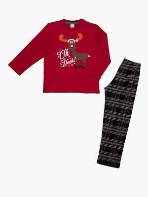Παιδική-Πυτζάμα Oh-Deer Κόκκινο Minerva 61902 4-6-8-10