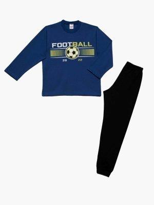 Εφηβική Πυτζάμα Football-Μπλε 61914 Minerva 4-6-8-10